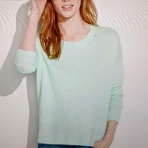 MADEWELL Sweater Linen Lightweight Green XS S M L